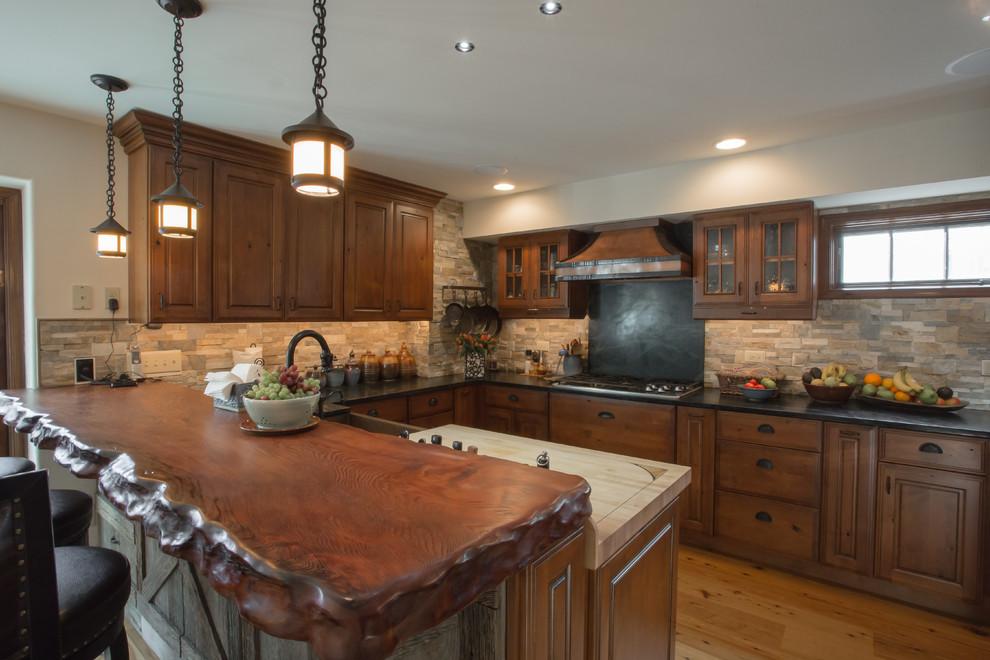 Brick Backsplash Kitchen | Wynnewood - Rustic - Kitchen ...