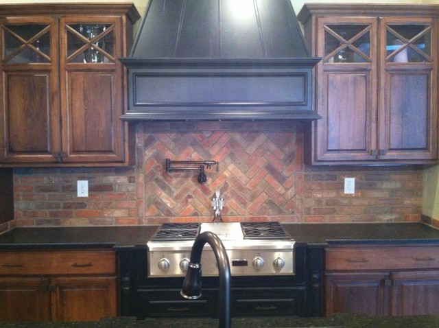 thin brick kitchen backsplash brick backsplash traditional kitchen louisville by 6097