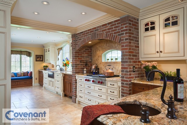 Brick Cooking Hearth - Traditional - Kitchen - other metro - by COVENANT KITCHENS & BATHS INC