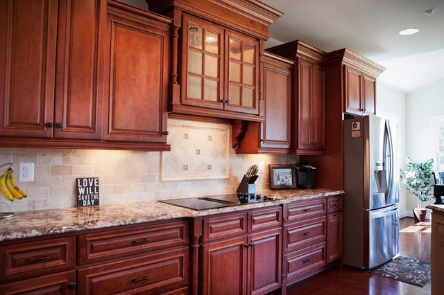 Bridgewater Cherry Traditional Kitchen Other Metro By Quality Stone Concepts
