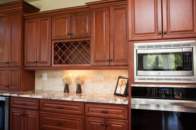 Bridgewater Cherry - Traditional - Kitchen - other metro - by Quality Stone Concepts