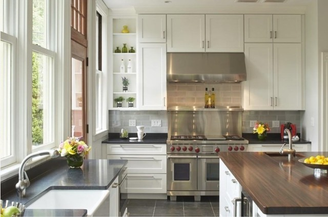 Bright & Airy Winchester Kitchen traditional-kitchen