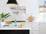 Before and After: Kitchen Gets a Bold New Look in Black and White (7 photos)