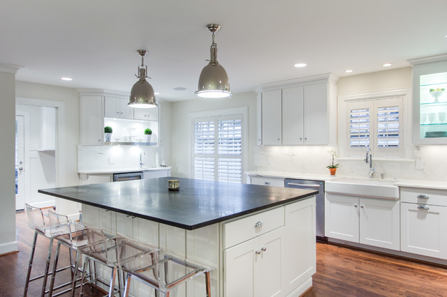 Bright And Modern Dallas Kitchen Featuring WOLF Classic Cabinets  Transitional Kitchen