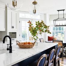 Bright Blue & White Kitchen