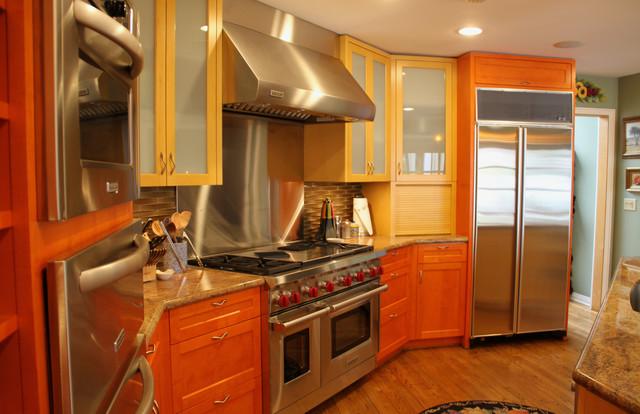 Bright Colors In Malibu Home Contemporary Kitchen