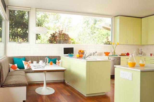 Bright Green Kitchen contemporary-kitchen