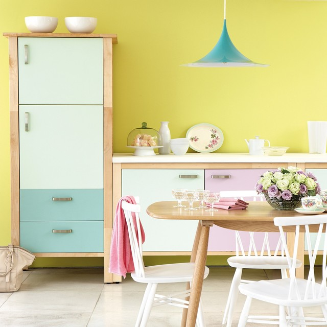 Bright Modern Kitchen in Pastel Tones  Contemporary  Kitchen  west