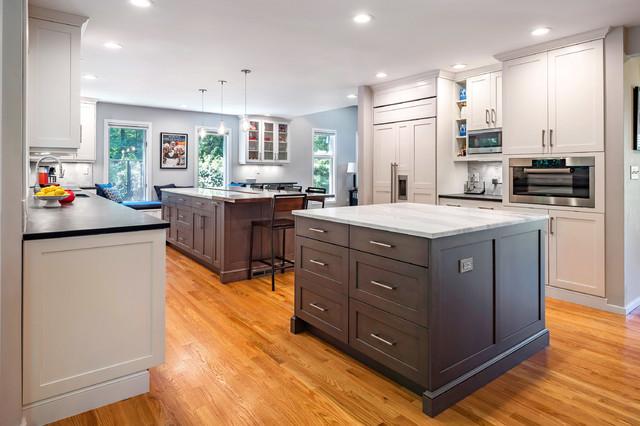 Bright Open Kitchen - Transitional - Kitchen - Bridgeport ...