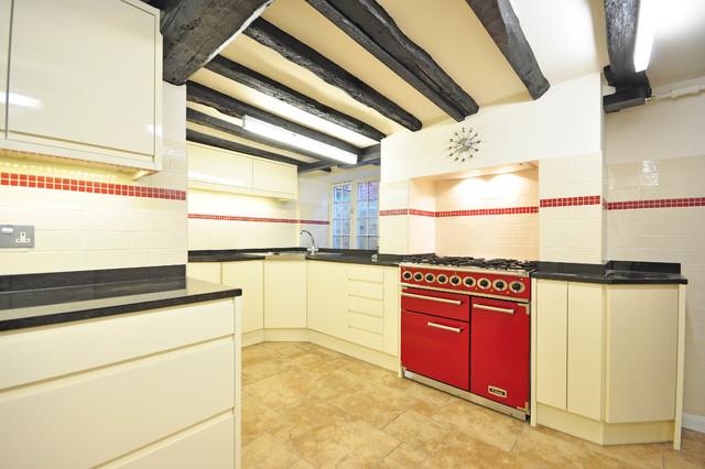 Bright Red Falcon Range Cooker