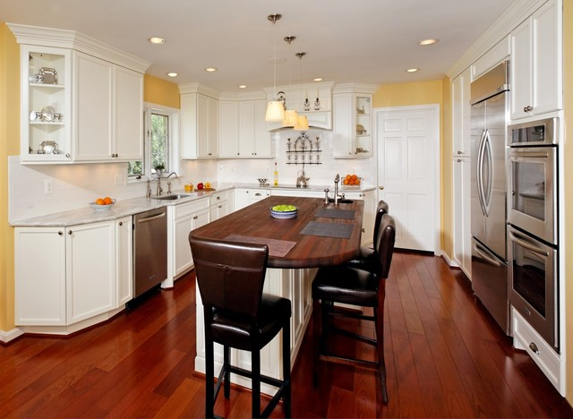 Bright, Traditional Kitchen in McLean, Virginia traditional-kitchen