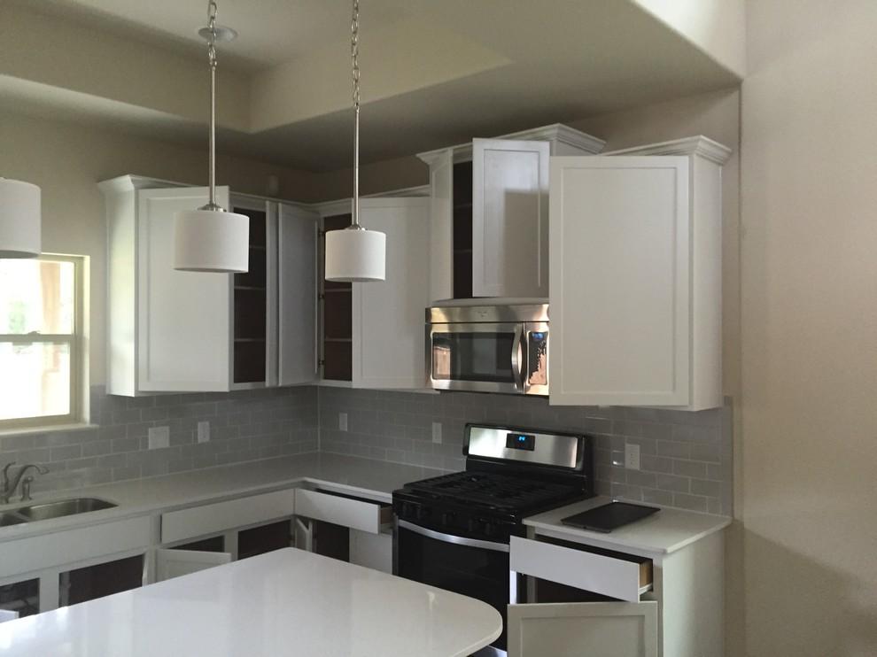 Bright White Kitchen Cabinets - Modern - Kitchen - Austin ...