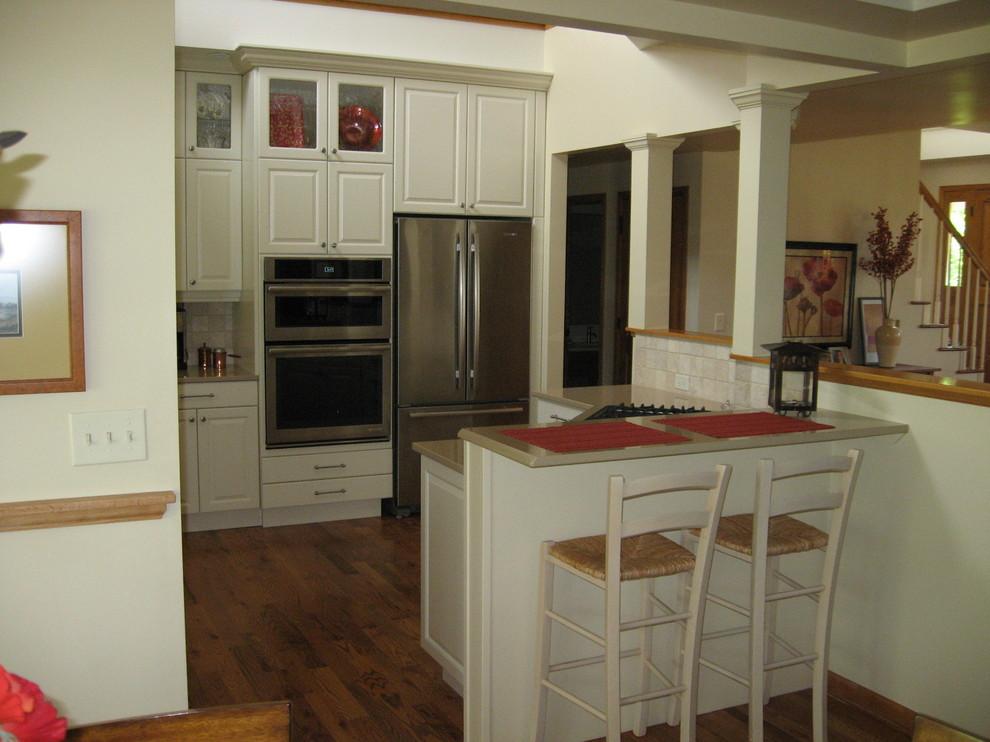 Bright White Kitchen Remodel - Traditional - Kitchen ...