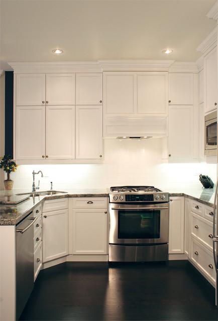 Bright White Kitchen Reno traditional-kitchen