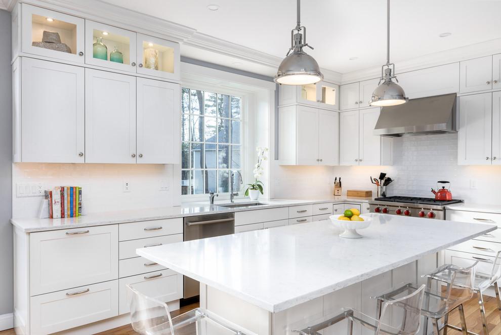 Bright White Transitional Kitchen Sudbury Ma Transitional Kitchen Boston By Kitchen Associates
