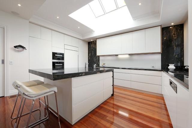 Brighton 2 Modern Kitchen Melbourne By Melbourne Contemporary Kitchens