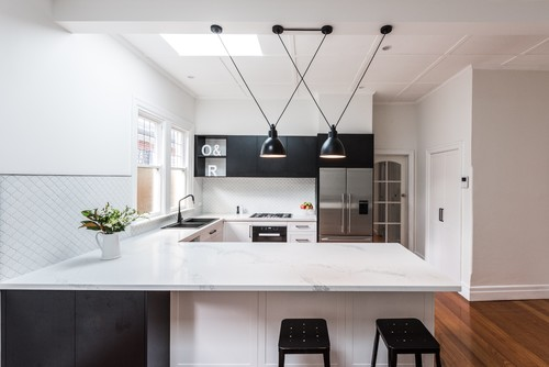 Add Pendant lights to update kitchen to modern