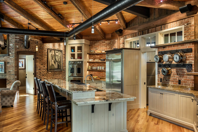 Bristol Woods Rustic Kitchen Boston By Fiorentino Group Architects