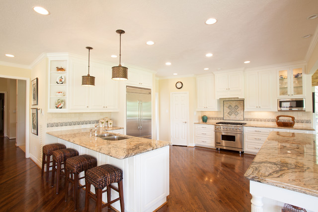 British Colonial Traditional Kitchen Houston By