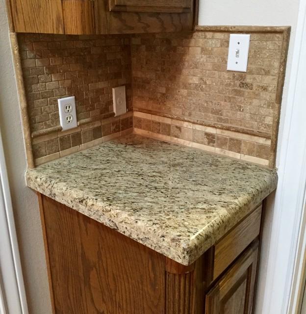 Travertine Flooring/Granite Countertops