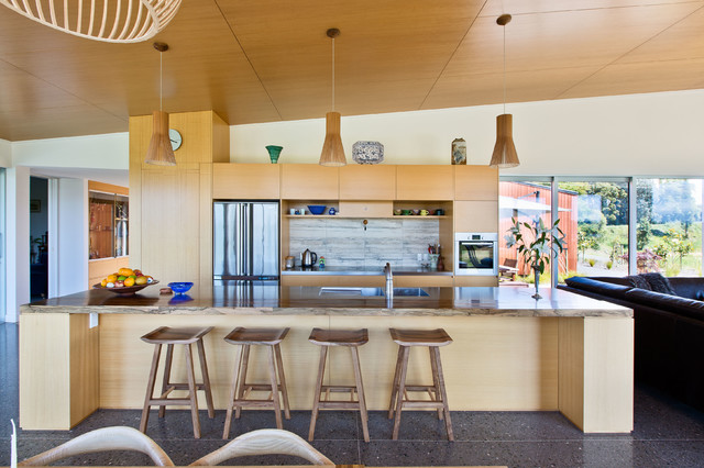 Bronte road house contemporary kitchen dunedin by for Kitchen design dunedin