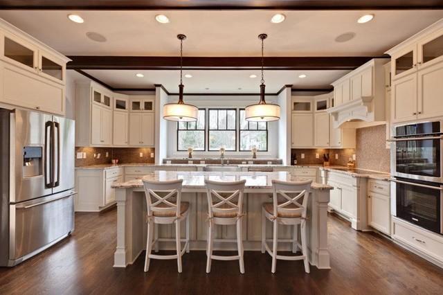 Brookhaven Custom Home - Contemporary Tudor traditional-kitchen