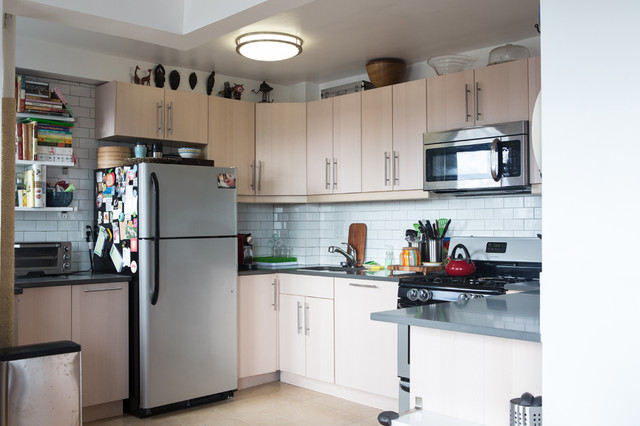 Brooklyn 2br transitional kitchen new york by for Kitchen cabinets 3rd ave brooklyn