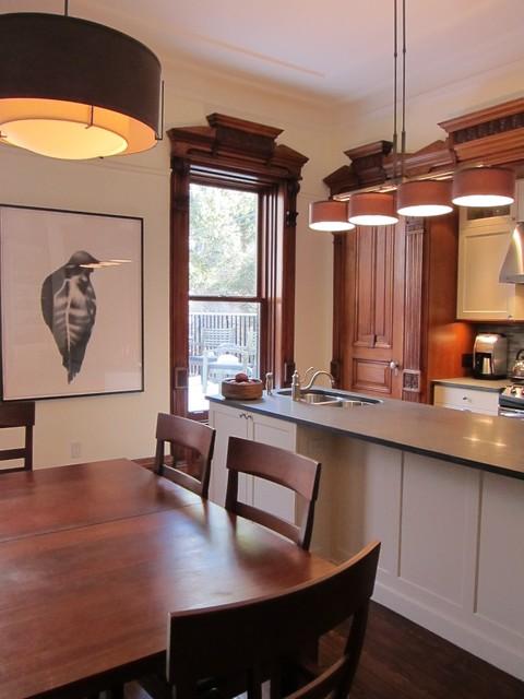 Kitchen Room Illustration: Brooklyn Brownstone Kitchen Dining Room Traditional-kitchen