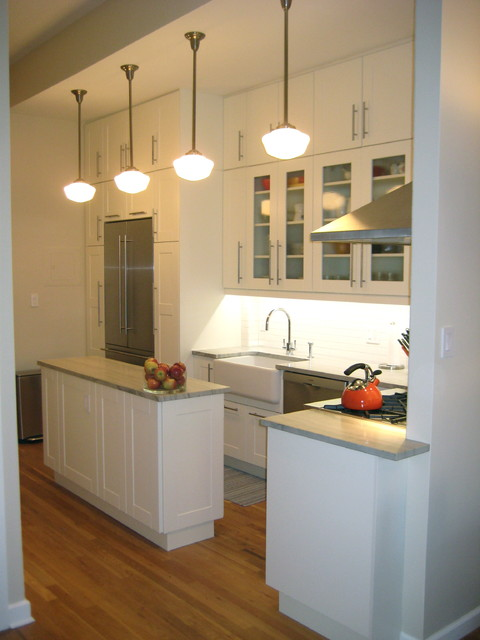 Brooklyn Heights IKEA Adel White - Contemporary - Kitchen - New York - by Basic Builders, Inc.