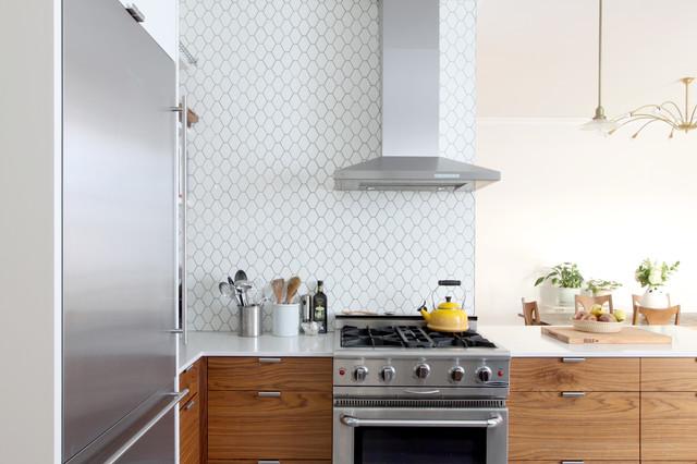 Brooklyn Prewar Apartment Transitional Kitchen