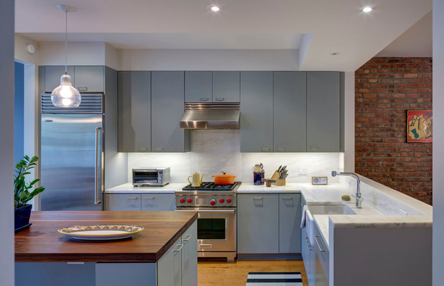 Brooklyn Rowhouse contemporary-kitchen