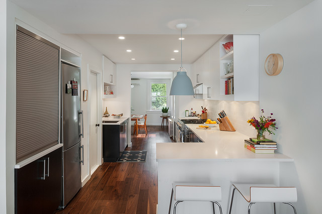 Brooklyn townhouse contemporary kitchen new york for Modern kitchen designs brooklyn ny