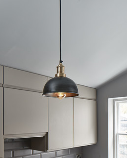 Brooklyn Vintage Small Metal Dome Pendant Light 8inch Industrial Kitche