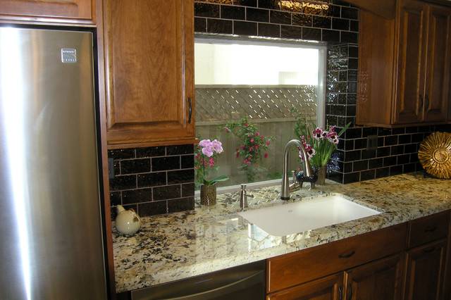 Brotherton family kitchen sink window traditional for Accents salon chagrin falls