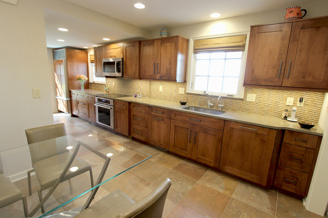 Brown and Beige Kitchen ~ Shaker Heights, OH  Transitional  Kitchen