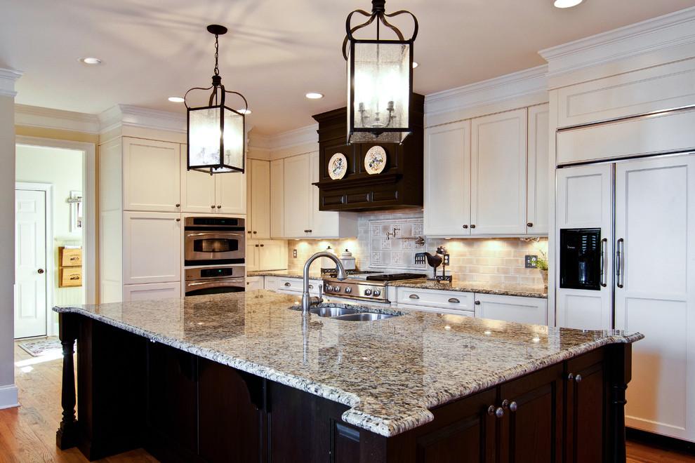Brown And Cream Kitchen Traditional Kitchen Atlanta By Keri Morel Designs