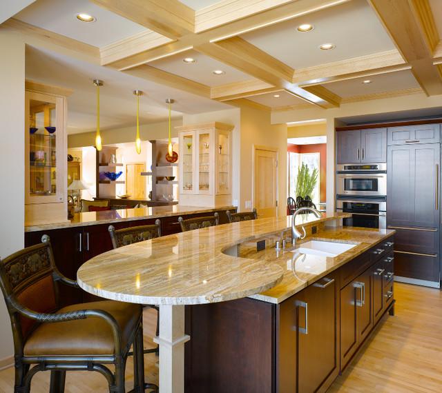 Brownhouse transitional-kitchen