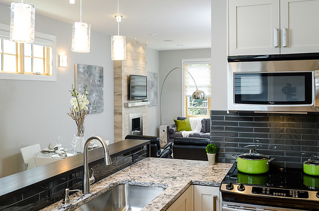 Brownstone Townhomes contemporary-kitchen