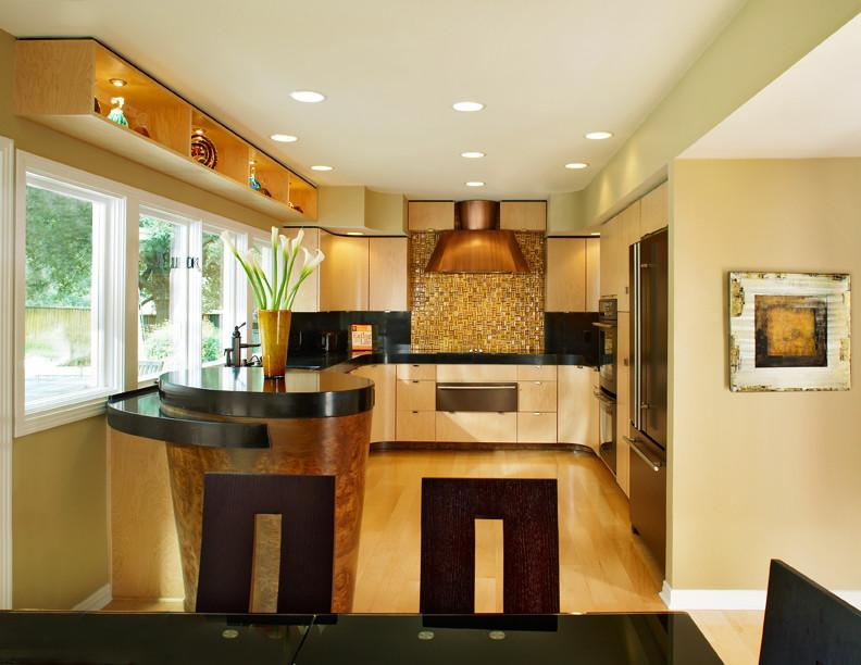 Inspiration for a contemporary kitchen remodel in Dallas