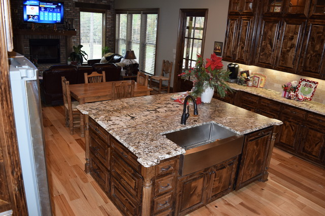 Normandy Granite In Kitchen With Cabinets