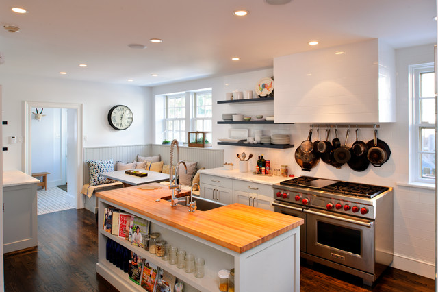 Bryn mawr english tudor kitchen remodel transitional for Tudor kitchen design