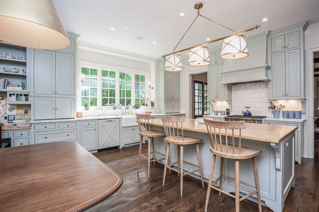 厨房咖啡色吧台美式风格装潢图片