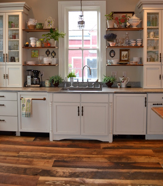 Buffalo New York Kitchen With Reclaimed Hardwoods Flooring