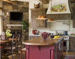 Buffehr Creek Residence traditional kitchen