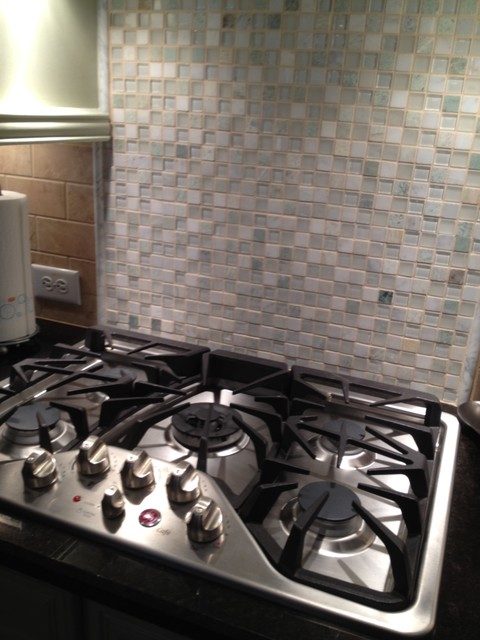 Builder Grade Kitchen to Soft, Transitional Look eclectic-kitchen