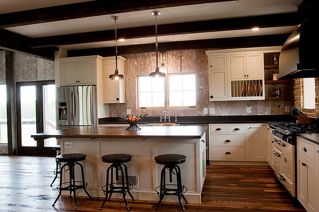 Genial Building With Reclaimed Wood, Stone And Tin Traditional Kitchen