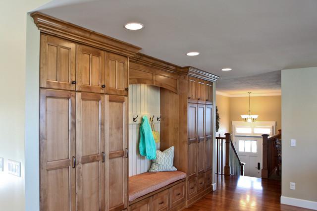 Built In Bench Storage Lockers Traditional Kitchen