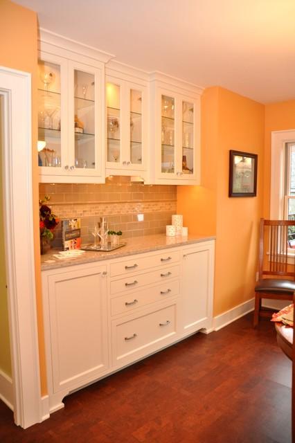 Built In Buffet Cabinet Craftsman Kitchen Seattle