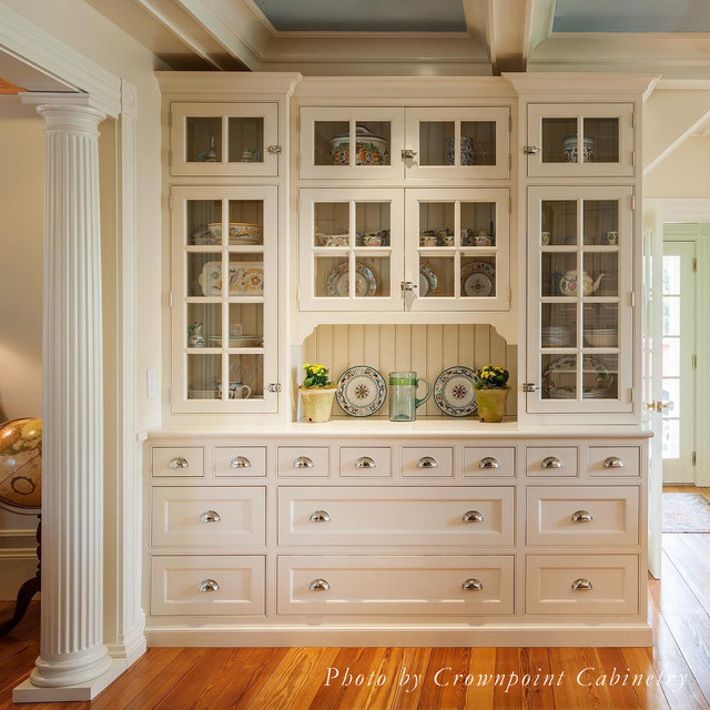 Built In Buffet Cabinet Traditional Kitchen Boston