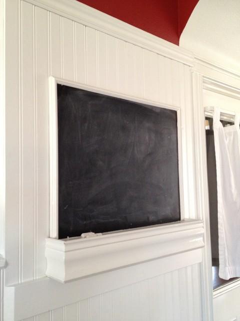 Built In Chalk Message Board